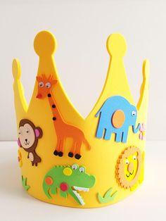 Jungle Safari Birthday Crown  Jungle Animal Craft Kit