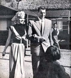 Marilyn and Joe DiMaggio in Japan, 1954.