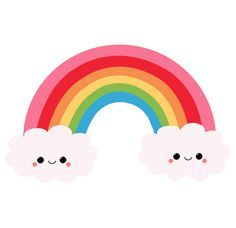 Kawaii stickers featuring millions of original designs created by independent artists. Rainbow Png, Rainbow Clipart, Rainbow Unicorn, Rainbow Colors, Kawaii Stickers, Cute Stickers, Unicorn Birthday, Unicorn Party, Kawaii Background