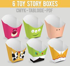 6 Popcorn Box Toy Story by Migueluche on Etsy Toy Story Theme, Toy Story 3, Toy Story Party, Toy Story Birthday, Birthday Pins, 3rd Birthday, Festa Toy Store, Cumple Toy Story, Bear Toy