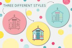 """""""SUMMER ON THE BEACH"""" SET OF GRAPHIC ELEMENTS on Behance"""