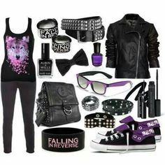 Falling in reverse clothes band merch that i want in 2019 emo kleren, emo, Cute Emo Outfits, Teenage Girl Outfits, Outfits For Teens, Stylish Outfits, Emo Mode, Punk Mode, Fashion Mode, Emo Fashion, Fashion Outfits