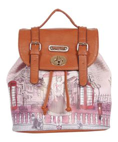 Love this Telephone Booth Gitana Vintage Backpack Handbag by Nicole Lee on #zulily! #zulilyfinds