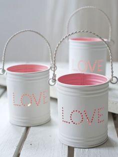 utensil holder with drilled LOVE?