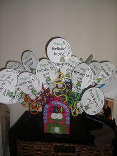 Birthday balloon ideas with pixie sticks