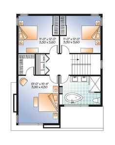 Contemporary Modern Level Two of Plan 76317