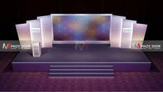 Conference Stage Design 4 - New Deko Sites Stage Backdrop Design, Stage Set Design, Church Stage Design, Red Living Room Decor, Concert Stage Design, Church Interior Design, Stage Background, Exhibition Booth Design, Stage Decorations
