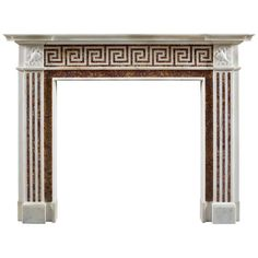 Antique 19th Century English Neoclassical Fireplace Mantle | From a unique collection of antique and modern fireplaces and mantels at http://www.1stdibs.com/furniture/building-garden/fireplaces-mantels/