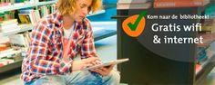 In iedere vestiging van Bibliotheek West-Achterhoek zijn Internetcafés. Hier staan computers met gratis internet, Word, Excel en Powerpoint. Handig als je bijvoorbeeld moet solliciteren of een presentatie moet maken. Bovendien is overal in Bibliotheek West-Achterhoek gratis Wifi. Dat betekent dat je met je laptop, tablet of smartphone gratis kunt internetten in de bibliotheek.