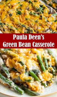 This Paula Deen's Green Bean Casserole recipe is an easy to make, with only simple ingredients, this recipe is perfect for the idea of side dishes for the holidays and family dinners. Your whole family will love it. Healthy Green Bean Casserole, Healthy Green Beans, Vegetable Casserole, Paula Dean Green Bean Casserole Recipe, Paula Deen Corn Casserole, Homemade Green Bean Casserole, Thanksgiving Casserole, Thanksgiving Side Dishes, Thanksgiving Recipes
