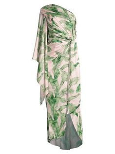 Significant Other Caspian Tropical Dress Tropical Dress, Significant Other, Leaf Prints, Saks Fifth Avenue, Pajama Pants, My Style, Sleeves, Wedding, Clothes