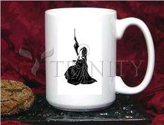 Coffee-Tea Mug (15 oz) - St. Bernadette's Ave by D. Paulos   Trinity Stores