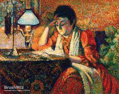 The Reader by Georges Lemmen - Oil Painting Reproduction - BrushWiz.com