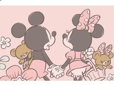 Mickey And Minnie Love, Mickey Mouse And Friends, Mickey Minnie Mouse, Disney Mickey, Disney Art, Minnie Mouse Drawing, Mickey Mouse Cartoon, Mickey Mouse Wallpaper Iphone, Disney Wallpaper