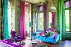 lilac and turquoise bedroom - could I go that intense?