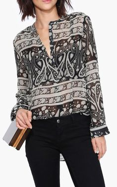 Paisley Blouse in Black