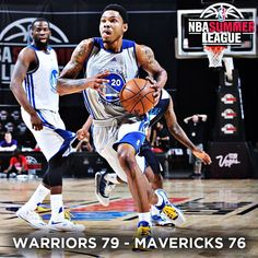 A 17-2 run late in the fourth quarter fueled a 79-76 #Warriors victory over the @Dallas Mavericks on Thursday evening. @KentBazemore20 dominated the game, finishing with 25 points, six rebounds, and one of the best dunks of the summer. The Dubs' Summer League win streak is now at 11 games, and the team will try to make it 12 when they face the eighth-seeded @Laura Akers at 7:00 p.m. on Saturday for the #NBASummerLeague Quarterfinals. RECAP: http://on.nba.com/153fzck