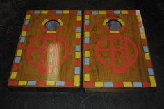 Custom hand painted 2 x 3 wedding set