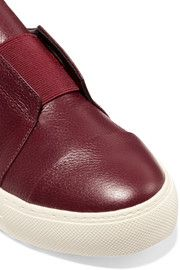 ATELJE 71Textured-leather slip-on sneakers