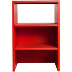 Table or Shelf #49 by Donald Judd ❤ liked on Polyvore featuring home, furniture, storage & shelves, red shelves, red shelf, red furniture, shelving furniture and shelves furniture