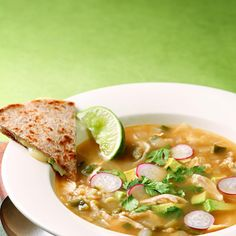 Although there are many variations of this Mexican chicken soup, spicy chipotle chiles are always part of the broth. Make it a meal: Serve with a Mexican beer and cheese quesadillas.