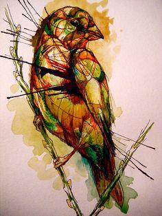 Abby Diamond   Birds In Water Color   bumbumbum