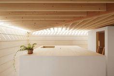 Blick aufs Schlafzimmerdach im Wohnhaus in Toyokawa