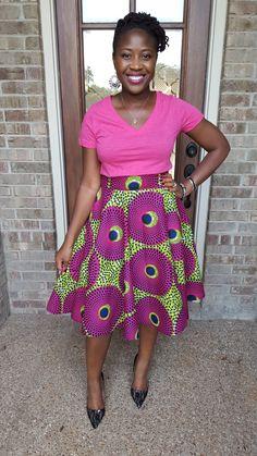 Monde's Threads: Date Night Look: African Print Circle Skirt  African print skirt, ankara circle skirt, chitenga skirt, kitenge skirt, sewing, diy fashion