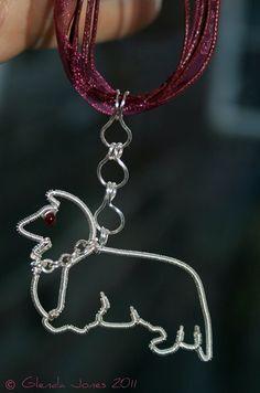'Basil' Sheltie Dog Pendant - CC Welcome! | JewelryLessons.com