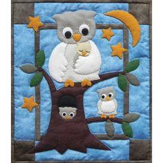 Rachel de Greenfield - Rachel de Greenfield Tapeçaria Quilt Kit - Família da coruja