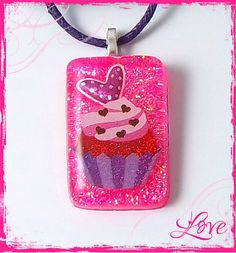I Love Cupcakes Charmer Childrens Necklace Valentines by PBJewels, $5.00
