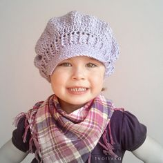 CROCHET NEWSGIRL NEWSBOY HAT PATTERN - in 5 size, baby, toddler, child, teen, adult for girl and woman