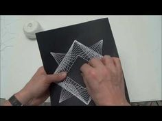 Geometric String Art project on paper | String Art DIY | Free patterns and templates to make your own String Art