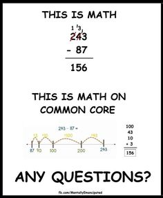 Common core math - any questions?