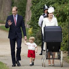 He Does It Again! Adorable George Steals the Spotlight on Walk to Charlotte's Christening | HE STRIDES WITH PRIDE | No knee socks today, but that's okay! Prince George gets the crowd going on Sunday as he walks his way to little sis Princess Charlotte's christening at Sandringham's St. Mary Magdalene church in Norfolk, England. The outing marks the first time the young royal family is photographed together in public.