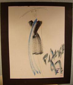 C PETERSON oil painting Original ART retro fashion # 15 #Impressionismexpressionismcontemporaryart
