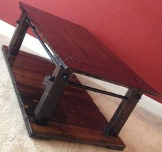Rustic industrial coffee table including free by IndustrialEnvy