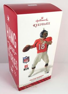 01b1a1cf2ed 2014 Hallmark Ornament PEYTON MANNING Denver Broncos NFL Football Keepsake  NEW  Hallmark Denver Broncos