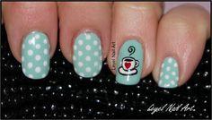 . . . . . . Lady Leyel Nail Art . . . . . .: Cute Coffee Cup Nail Art