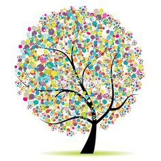 Art tree beautiful for your design — Stock Illustration #3606462