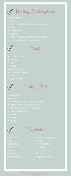 healthy grocery list for runners