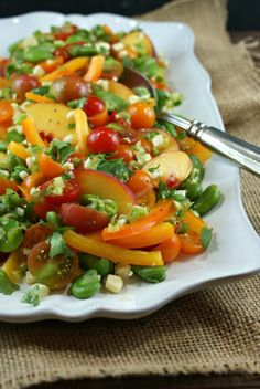 Authentic Suburban Gourmet: Farmer's Market Salad with Honey Lime Vinaigrette