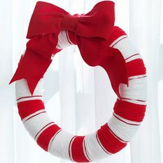Christmas crafts: Hang an easy-to-make homemade wreath to show off your holiday spirit.