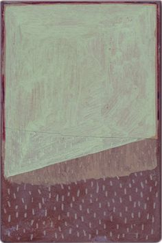 David Quinn Pewter Series, 2012 Acrylic and crayon on paper on mdf 20x13cm