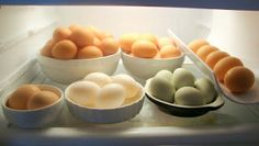 Eggs don't need to be refrigerated, but one day out on the counter at room temperature is equivalent to about a week in the refrigerator, so if you aren't planning on eating your eggs for awhile, it is best to refrigerate them.