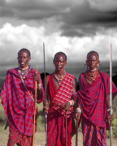 Maasai warriors, Kenya  http://www.creativeboysclub.com/