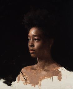 Detail of a new painting for my upcoming show opening tomorrow night, November in Culver City, CA at Florence Academy Of Art, Portrait Pictures, Portrait Ideas, Black Girl Art, Oil Portrait, African American Art, Chiaroscuro, Figure Painting, Face Art
