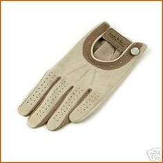 Ladies Golf Glove Taupe Leather Left Hand Small