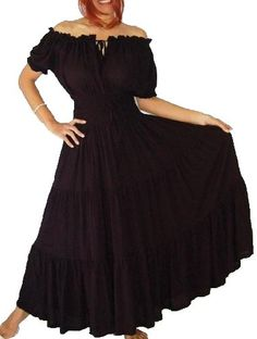 BLACK DRESS PEASANT ETHNIC SMOCKED - FITS - S M L - A752A LOTUSTRADERS LOTUSTRADERS http://www.amazon.com/dp/B005AUF3S4/ref=cm_sw_r_pi_dp_P110tb10R7SH3677