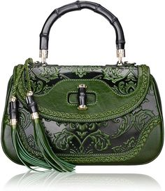35298148e1b3 Pijushi 6029 Classic Ladies Handmade Luxury Leather Satchel Bag Women s  Top-handle Handbags (Floral